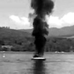 Jet Skier To The Rescue as Boat Catches Fire *Video Footage!