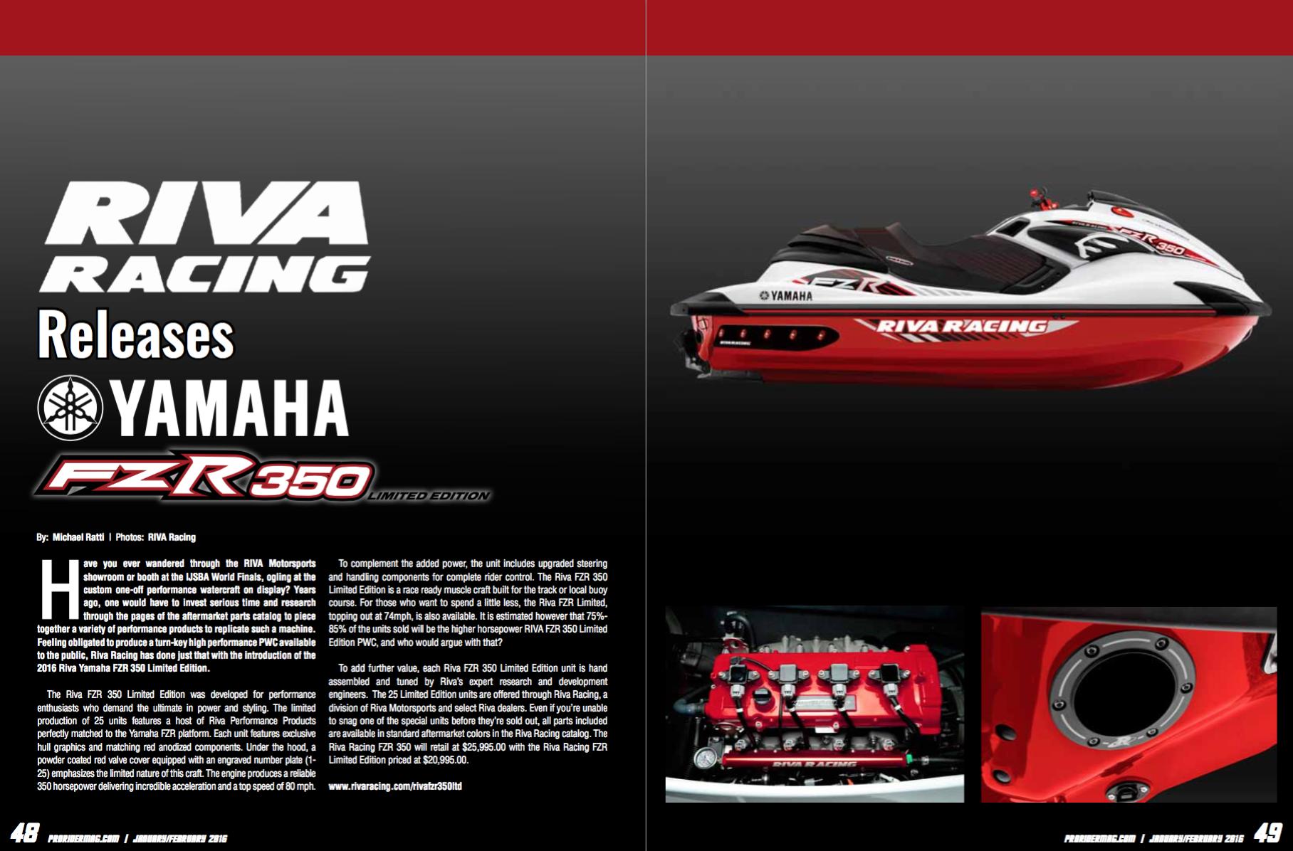 Pro Rider Watercraft Magazine Featured Articles