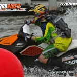 Sea-Doo Saprk and Preston Clark carving buoys at the Hydrocross Race in Tavares, FL.