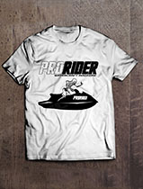 Pro Rider Watercraft Magazine SE Skeleton Sit Down T-Shirt