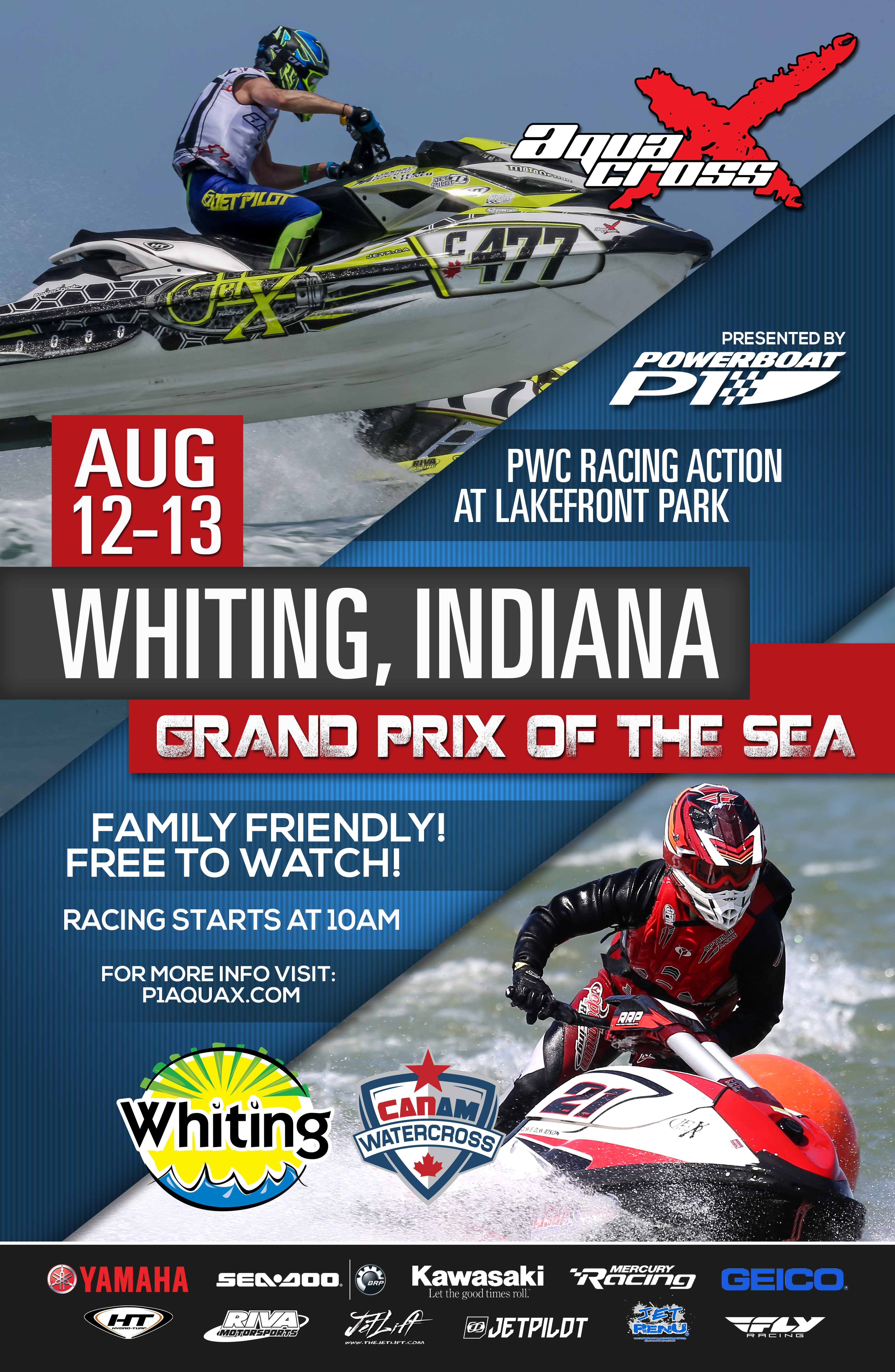 Powerboat P1 AquaX Racing Returns To Whiting August 12 13