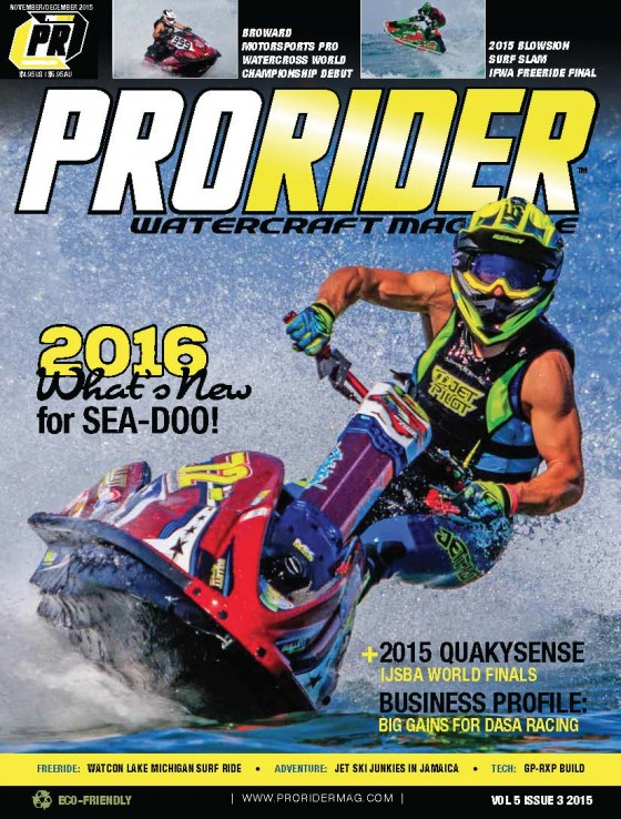 Jeremy Poret to be featured on the cover of the November/December Season Finals issue of Pro Rider Watercraft Magazine
