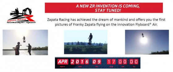 Zapata Racing has achieved the dream of mankind and offers you the first pictures of Franky Zapata flying on the innovation Flyboard® Air.