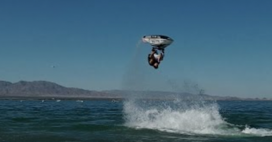 First Ever HEEL CLICKER BACK FLIP on Jet Ski by LEE STONE