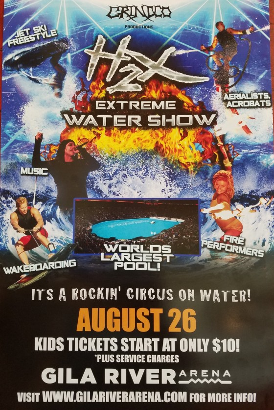 H2X WATER SHOW FLOODS VENUE WITH THRILLING CIRCUS ON WATER INSIDE GILA RIVER ARENA on SATURDAY AUGUST 26, 2017!