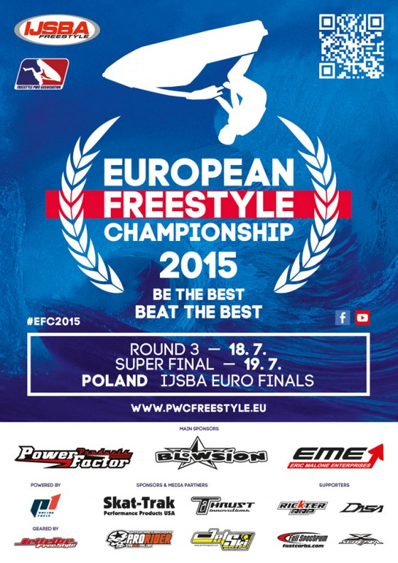 Round 3 & Super Final of 2015 European Freestyle Championship teams up with Jettribe IJSBA European Finals in Poland this Weekend!