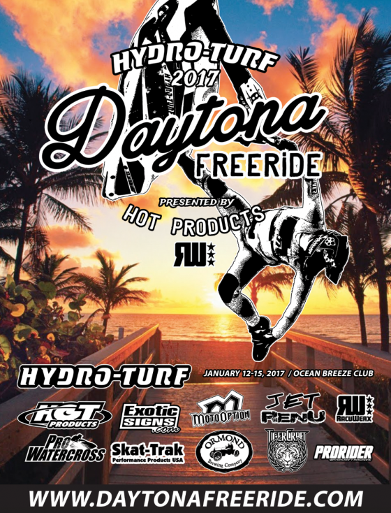 Hydro-Turf 2017 Daytona Freeride Kicks Off January 12-15!