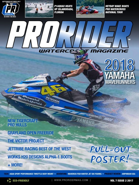 Chris MacClugage and Yamaha WaveRunners to be Featured on September/October Issue Cover of Pro Rider Watercraft Magazine!