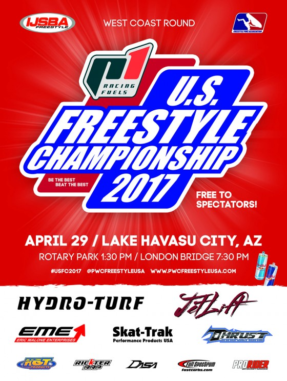 Registration Now Open for West Coast Round of 2017 P1 Racing Fuels U.S. Freestyle Championship sanctioned by IJSBA