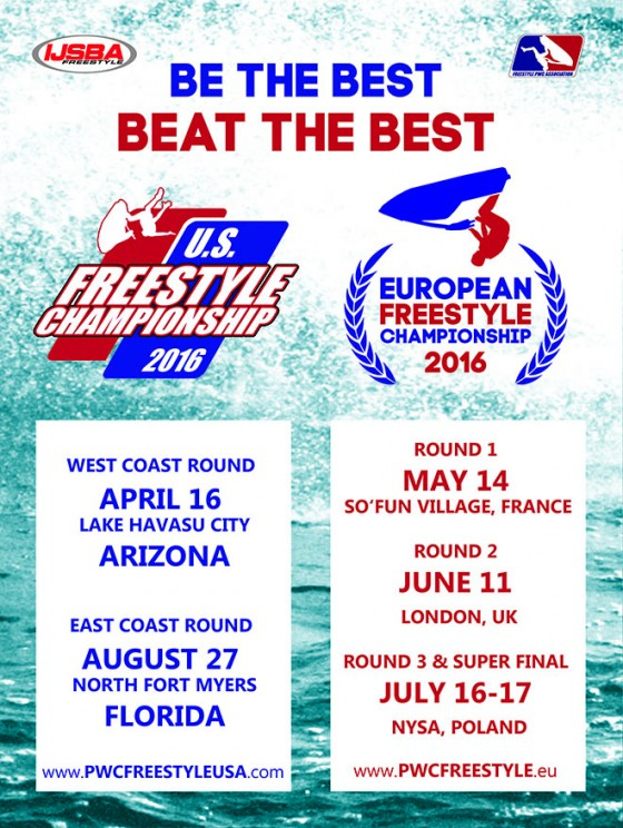 IJSBA US & European Freestyle Championships 2016 Dates