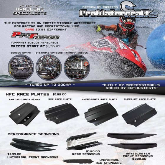 Pro Rider Announces Official Partnership with Pro Watercraft Racing!
