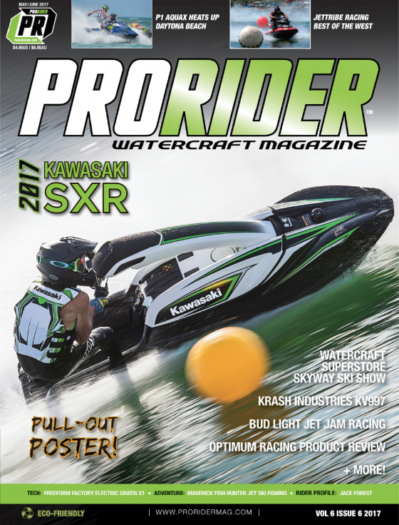 2017 Kawasaki SXR to be Featured on Cover of May/June Spring Issue of Pro Rider Watercraft Magazine!