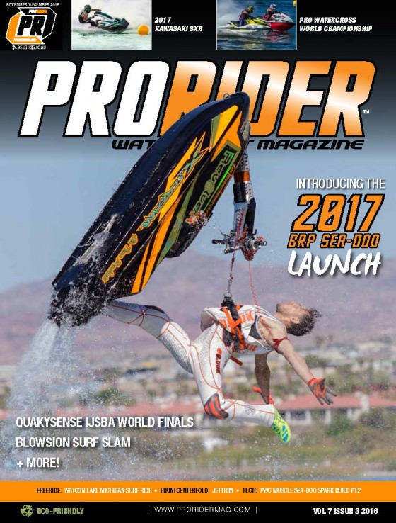 Pro Freestyle World Champion Lee Stone to be featured on the cover of the 2016 November/December print and digital issue of Pro Rider Watercraft Magazine!