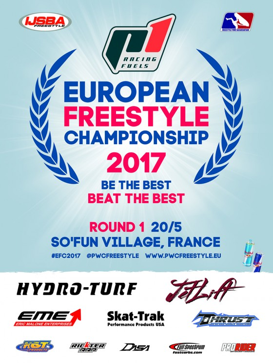 Registration Now Open for Round 1 of 2017 P1 Racing Fuels European Freestyle Championship sanctioned by IJSBA