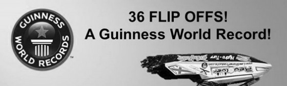2014 Guiness World Records Flip Off