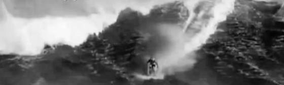 Daredevil Surfs on Water Skis