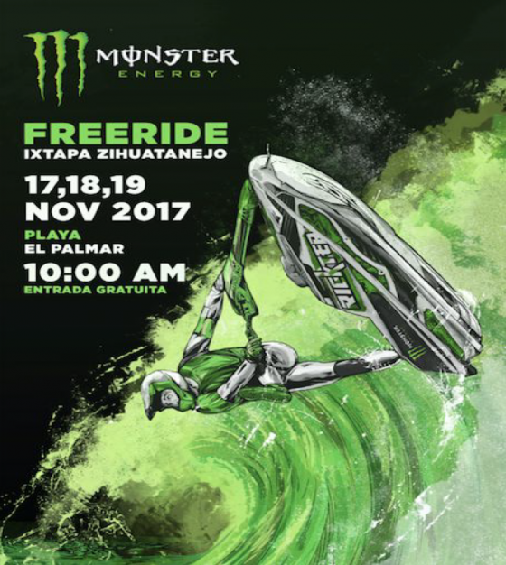 ALL​ ​SET​ ​FOR​ ​THE​ ​FIRST​ ​MONSTER​ ​ENERGY​ ​FREERIDE​ ​SERIES​ ​IXTAPA ZIHUATANEJO​ ​EDITION