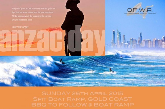 Queensland Freeride Watercraft Association Anzac Day ride and BBQ