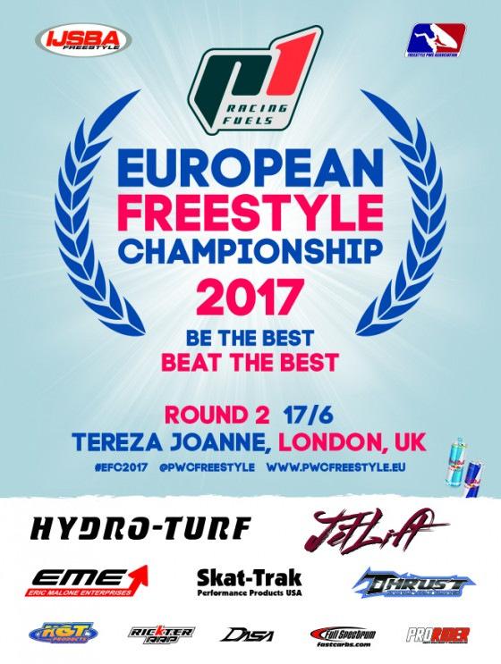 Registration Now Open for Round 2 of 2017 P1 Racing Fuels European Freestyle Championship sanctioned by IJSBA